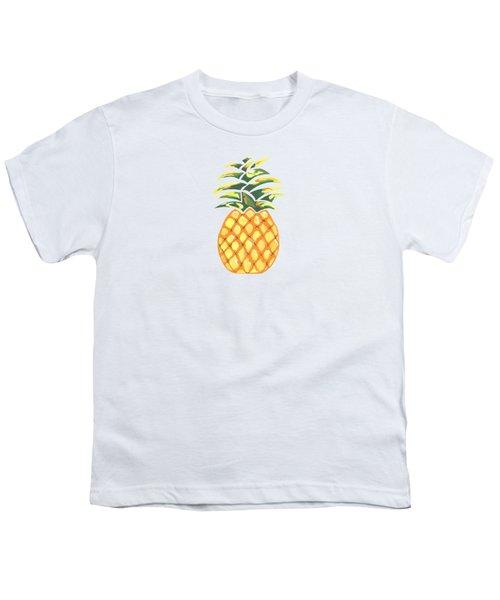 Pineapple Youth T-Shirt by Kathleen Sartoris