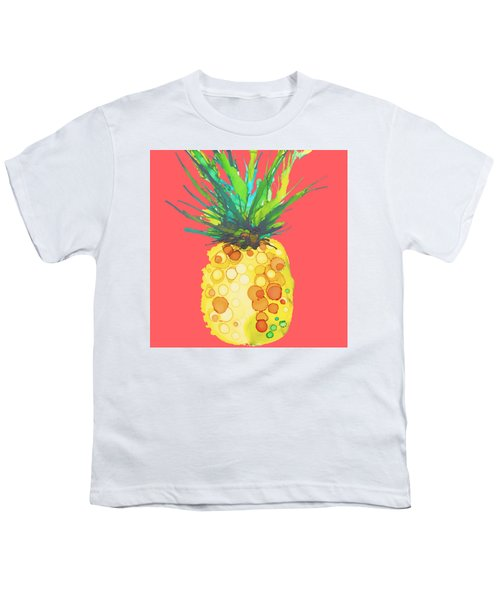Pink Pineapple Daquari Youth T-Shirt by Marla Beyer