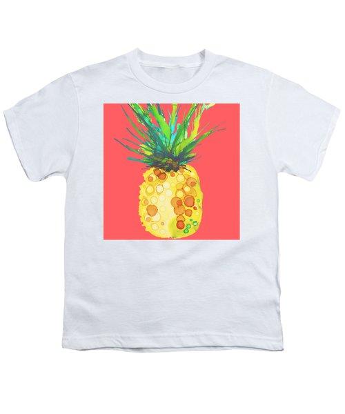 Pink Pineapple Daquari Youth T-Shirt by Marla Beyer
