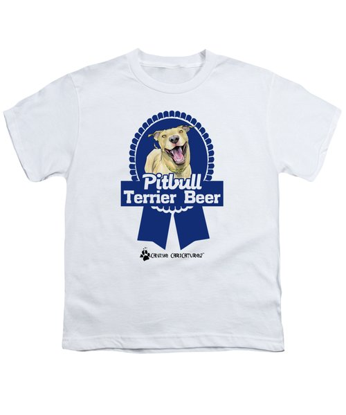 Pit Bull Terrier Beer Youth T-Shirt