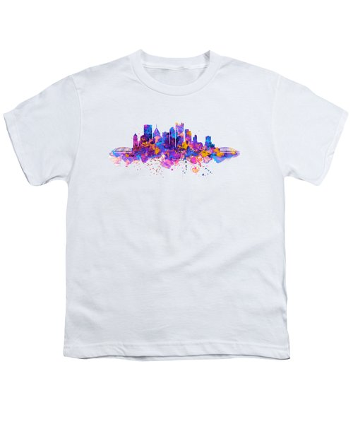 Pittsburgh Skyline Youth T-Shirt by Marian Voicu