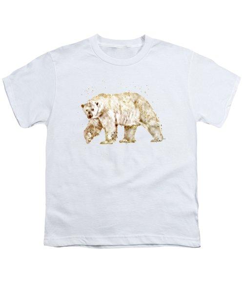 Polar Bear Watercolor Youth T-Shirt