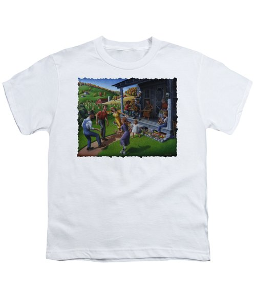 Porch Music And Flatfoot Dancing - Mountain Music - Appalachian Traditions - Appalachia Farm Youth T-Shirt