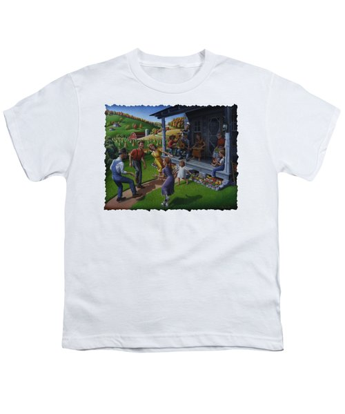 Porch Music And Flatfoot Dancing - Mountain Music - Appalachian Traditions - Appalachia Farm Youth T-Shirt