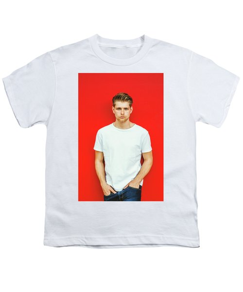 Portrait Of Young Handsome Man Youth T-Shirt
