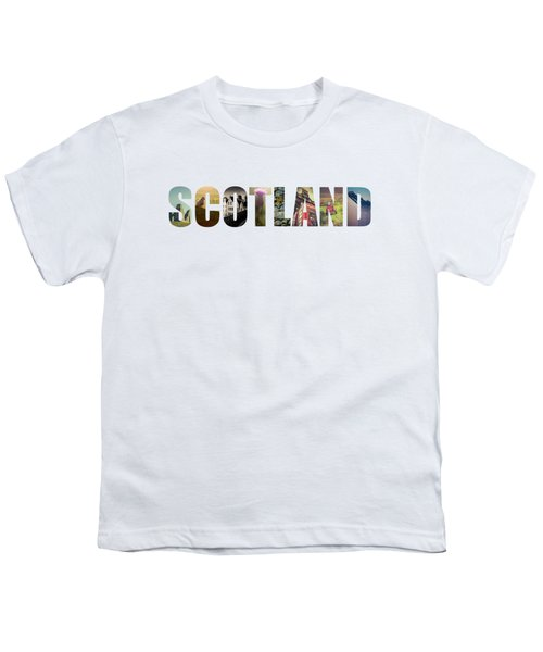 Postcard For Scotland Youth T-Shirt by Mr Doomits