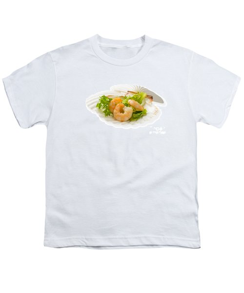 Prawn Appetizer Youth T-Shirt by Amanda Elwell