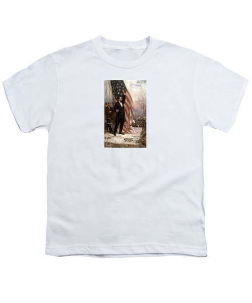 President Abraham Lincoln Giving A Speech Youth T-Shirt by War Is Hell Store