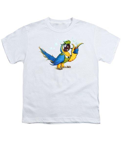 Professor Macaw Youth T-Shirt by Stieven Van der Poorten