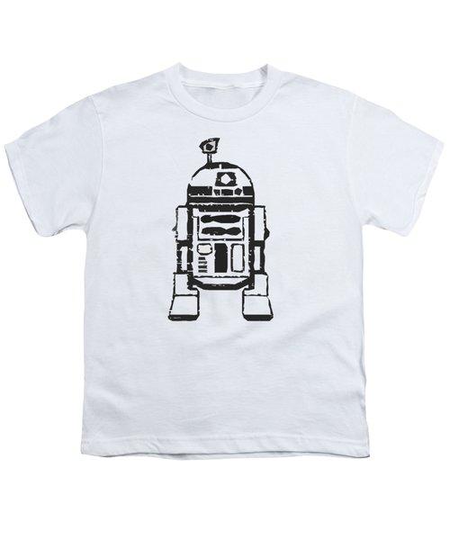 R2d2 Star Wars Robot Youth T-Shirt by Edward Fielding
