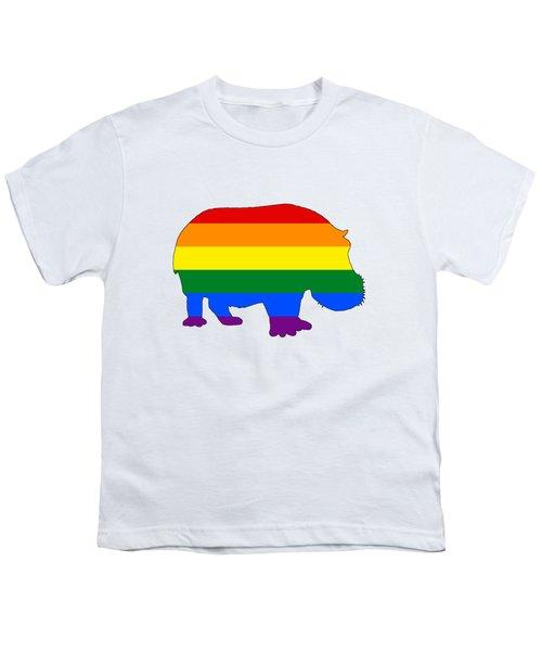 Rainbow Hippo Youth T-Shirt