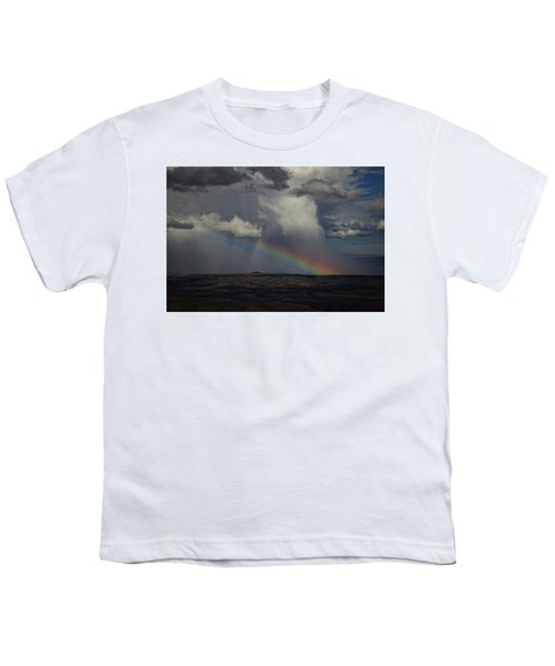 Rainbow Storm Over The Verde Valley Arizona Youth T-Shirt