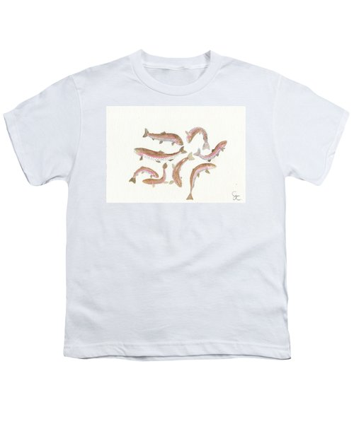 Rainbow Trout Youth T-Shirt by Gareth Coombs
