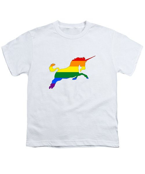 Rainbow Unicorn Youth T-Shirt by Mordax Furittus