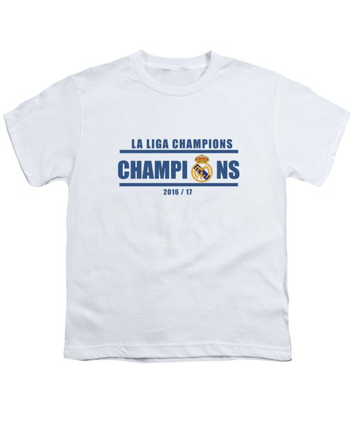 Real Madrid La Liga Champions  Youth T-Shirt