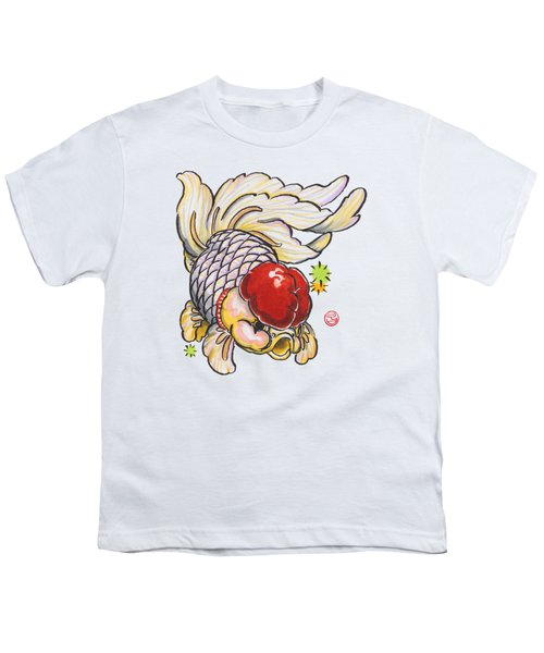 Red Cap Mixed Ranchu Youth T-Shirt by Shih Chang Yang
