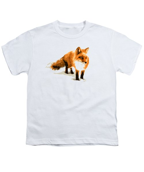 Red Fox In Winter Youth T-Shirt