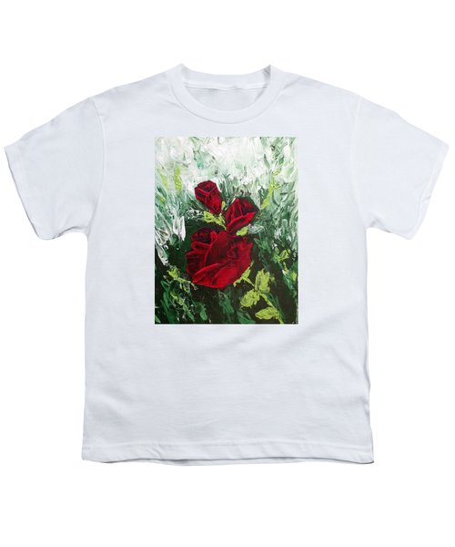 Red Roses In Bloom Youth T-Shirt