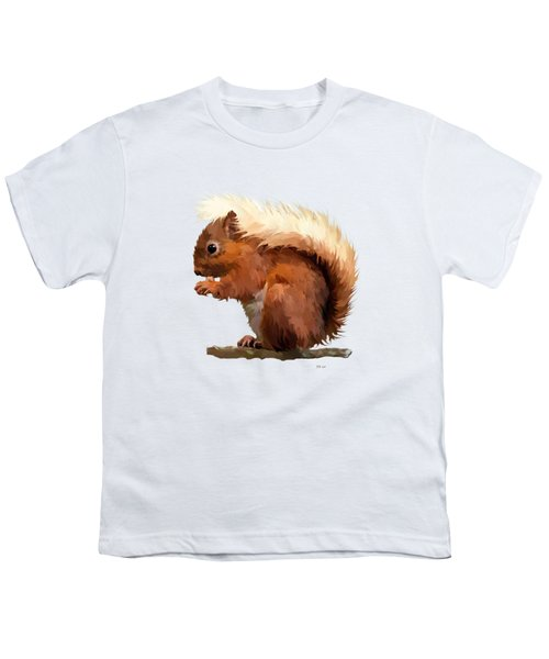 Red Squirrel Youth T-Shirt by Bamalam  Photography