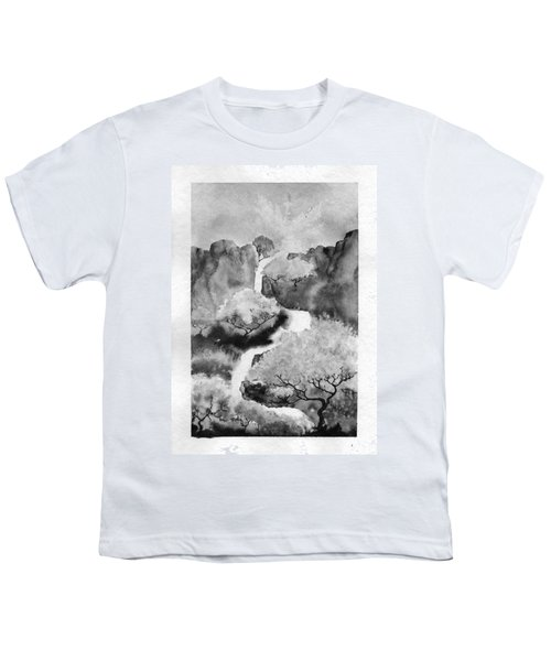 Youth T-Shirt featuring the painting Riviere Celeste by Marc Philippe Joly