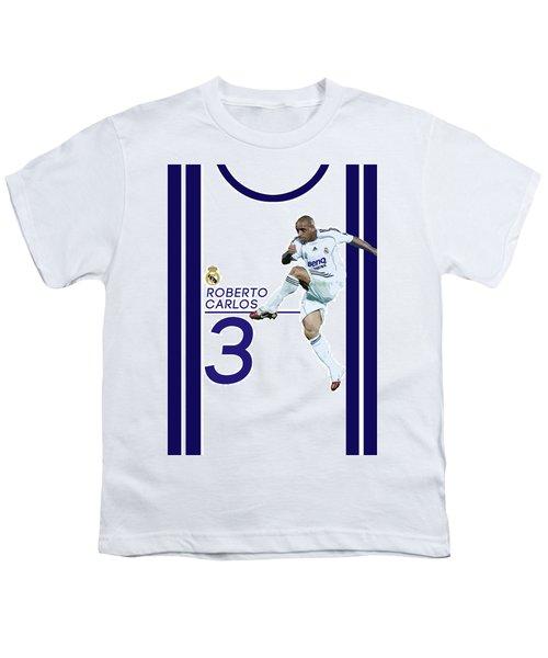 Roberto Carlos Youth T-Shirt by Semih Yurdabak