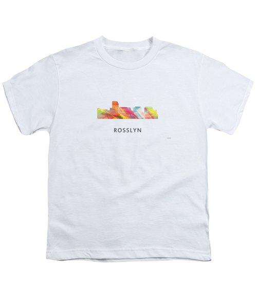 Rosslyn Virginia Skyline Youth T-Shirt by Marlene Watson