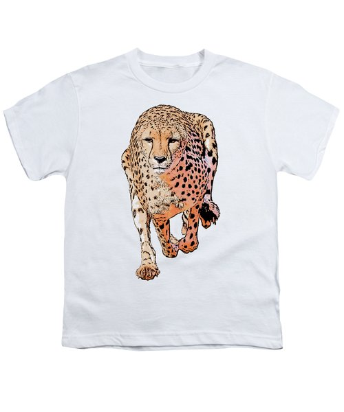 Running Cheetah Cartoonized #1 Youth T-Shirt