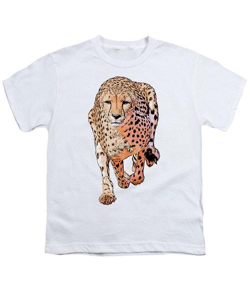 Running Cheetah Cartoonized #1 Youth T-Shirt