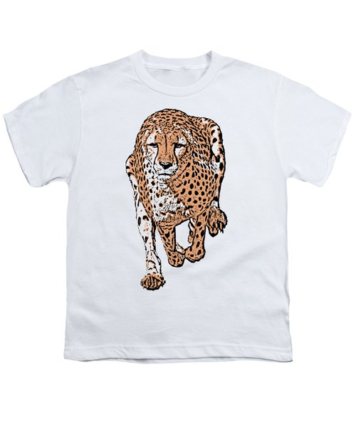 Running Cheetah Cartoonized #2 Youth T-Shirt
