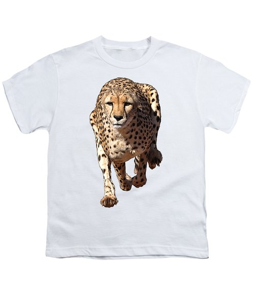 Running Cheetah Cartoonized #3 Youth T-Shirt
