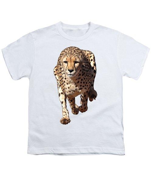 Running Cheetah Cartoonized #3 Youth T-Shirt