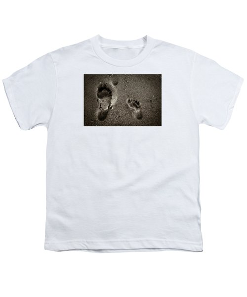 Youth T-Shirt featuring the photograph Sand Feet by Lora Lee Chapman