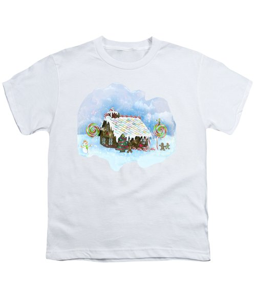Santa Loves Cookies Youth T-Shirt by Methune Hively