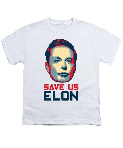Save Us Elon Pop Art Youth T-Shirt