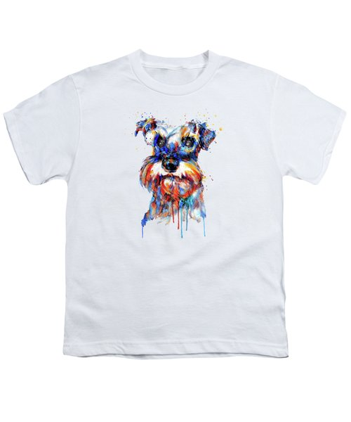 Schnauzer Head Youth T-Shirt