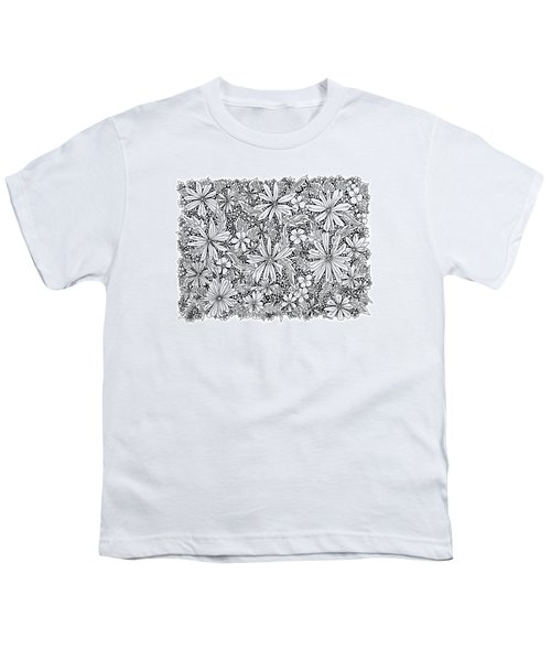 Sea Of Flowers And Seeds At Night Horizontal Youth T-Shirt by Tamara Kulish