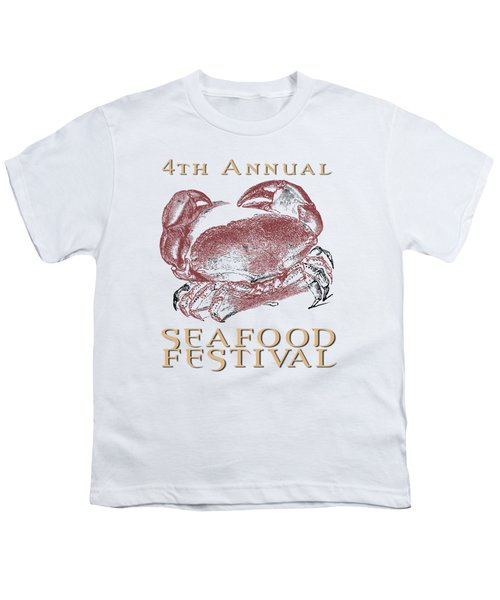 Seafood Festival Tee Youth T-Shirt by Edward Fielding