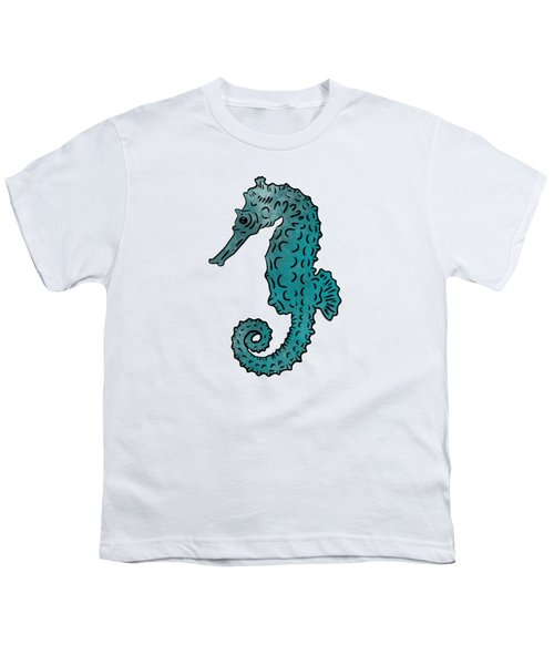 Seahorse Sketch Compilation Youth T-Shirt