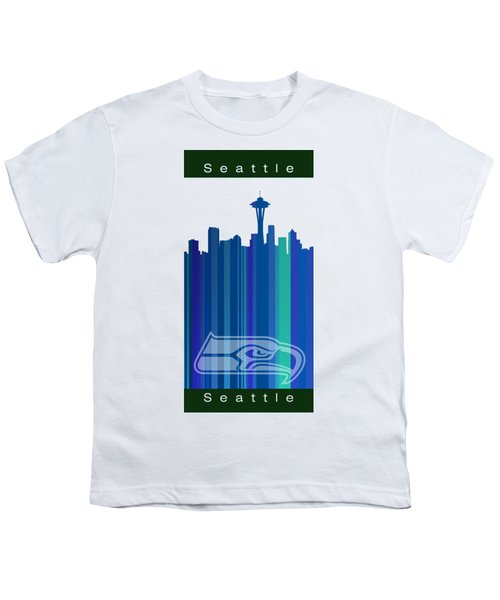 Seattle Sehawks Skyline Youth T-Shirt by Alberto RuiZ