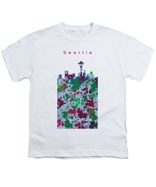 Seattle Skyline .3 Youth T-Shirt by Alberto RuiZ