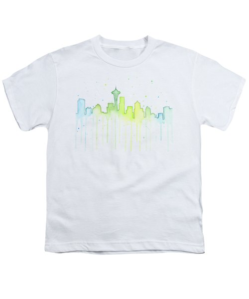 Seattle Skyline Watercolor  Youth T-Shirt