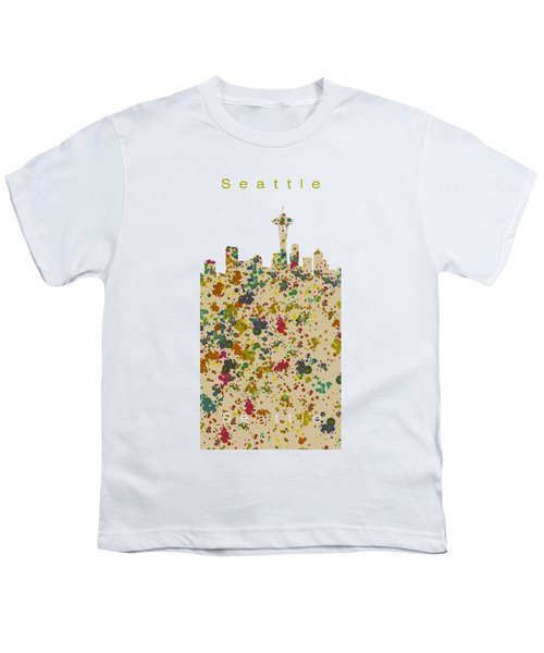 Seattle Skyline.2 Youth T-Shirt by Alberto RuiZ