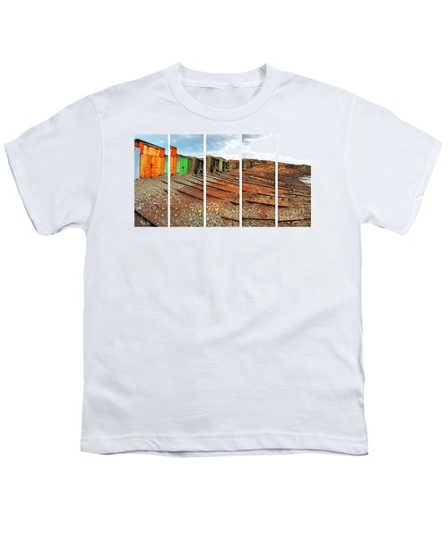 Youth T-Shirt featuring the photograph Second Valley Boat Sheds by Stephen Mitchell