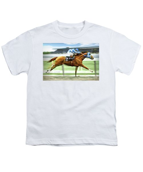 Secretariat On The Back Stretch At The Belmont Stakes Youth T-Shirt
