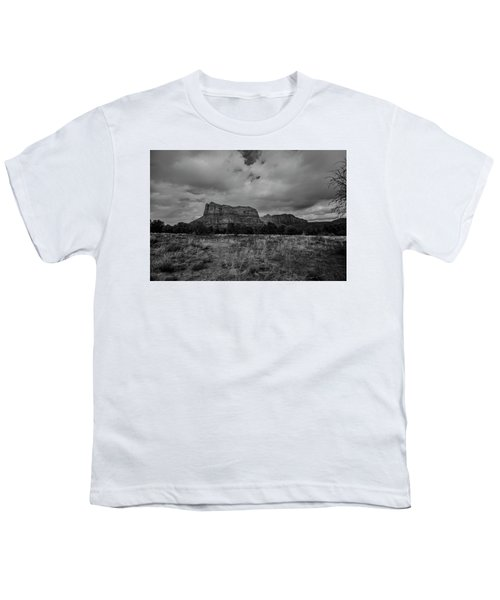 Sedona Red Rock Country Arizona Bnw 0177 Youth T-Shirt by David Haskett