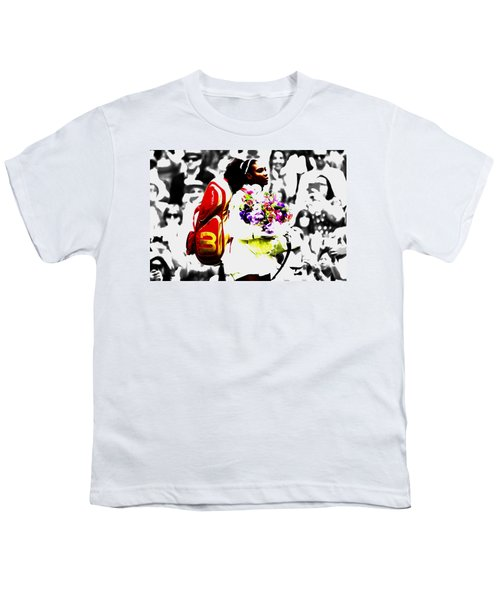 Serena Williams 2f Youth T-Shirt by Brian Reaves