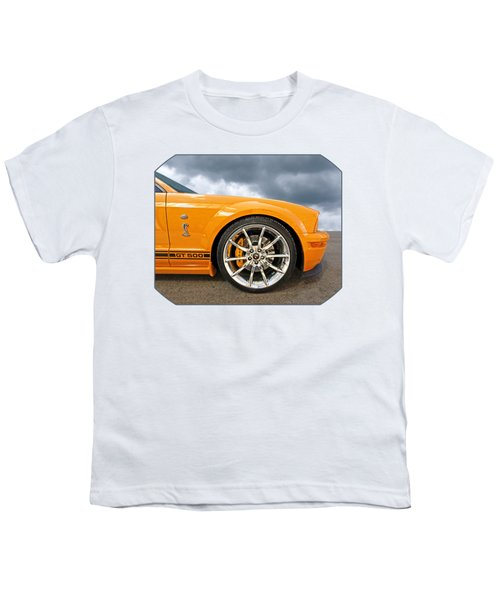 Shelby Gt500 Wheel Youth T-Shirt by Gill Billington