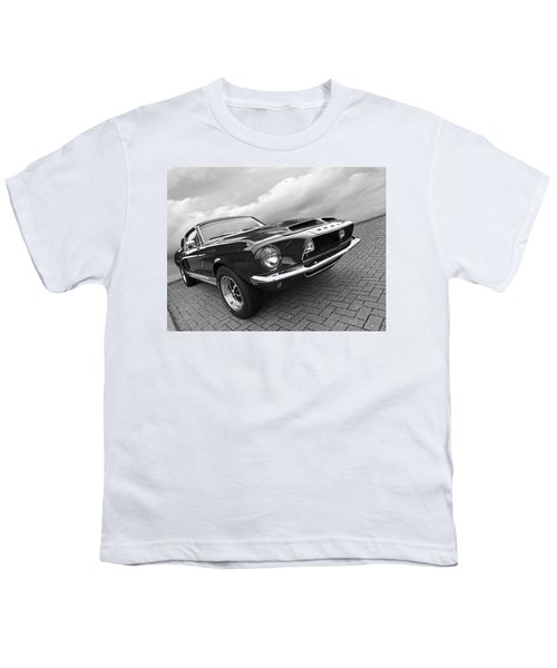 Shelby Gt500kr 1968 In Black And White Youth T-Shirt