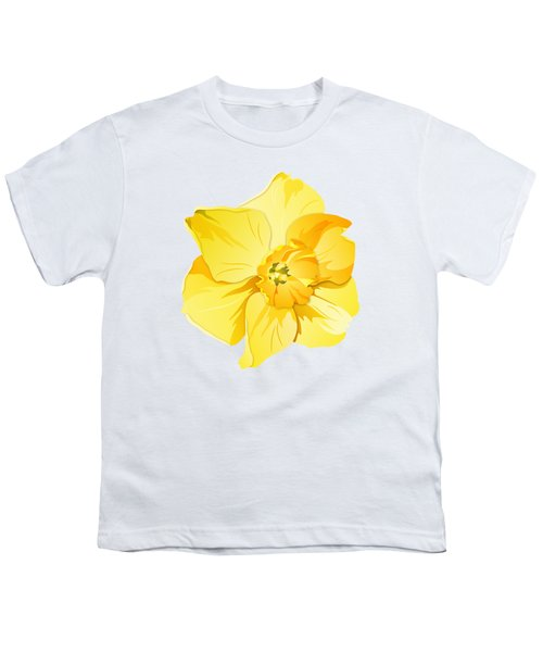 Short Trumpet Daffodil In Yellow Youth T-Shirt