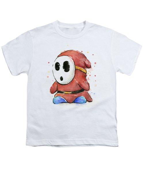 Shy Guy Watercolor Youth T-Shirt